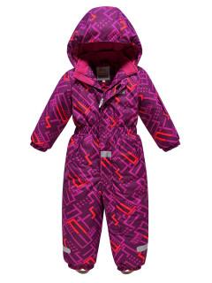 Детский зимний комбинезон фиолетового цвета купить оптом в интернет магазине MTFORCE 9026F