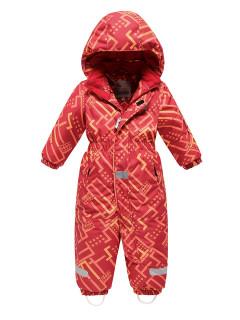 Детский зимний комбинезон персикового цвета купить оптом в интернет магазине MTFORCE 9026P