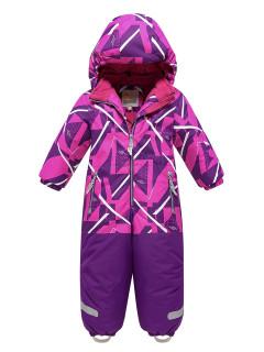 Детский зимний комбинезон малинового цвета купить оптом в интернет магазине MTFORCE 9028M