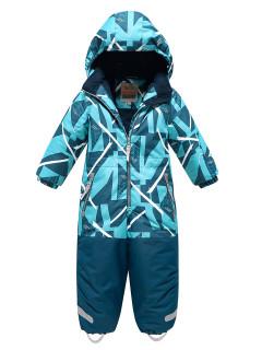Комбинезон детский зимний голубого цвета купить оптом в интернет магазине MTFORCE 9028Gl