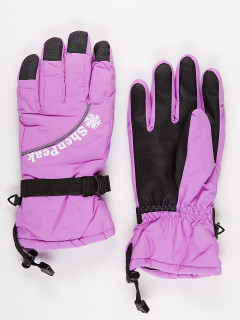 Горнолыжные перчатки женские зимние фиолетового цвета купить оптом в интернет магазине MTFORCE 903F