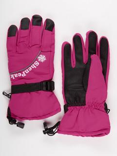 Горнолыжные перчатки женские зимние малинового цвета купить оптом в интернет магазине MTFORCE 903M