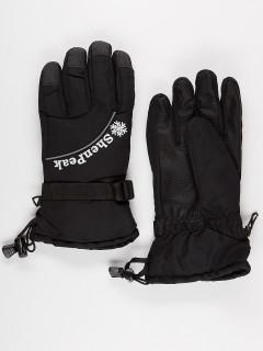 Горнолыжные перчатки женские зимние черного цвета купить оптом в интернет магазине MTFORCE 903Ch