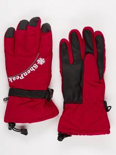 Горнолыжные перчатки женские зимние бордового цвета купить оптом в интернет магазине MTFORCE 903Bo