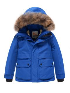 Купить оптом подростковую для мальчика зимнюю парку синего цвета в интернет магазине MTFORCE 9033S