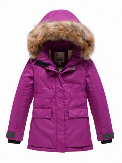 Купить оптом подростковую для девочки зимнюю парку фиолетового цвета в интернет магазине MTFORCE 9034F