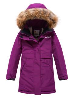 Купить оптом подростковую для девочки зимнюю парку фиолетового цвета в интернет магазине MTFORCE 9036F