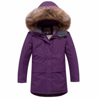 Купить оптом подростковую для девочки зимнюю парку фиолетового цвета в интернет магазине MTFORCE 9038F