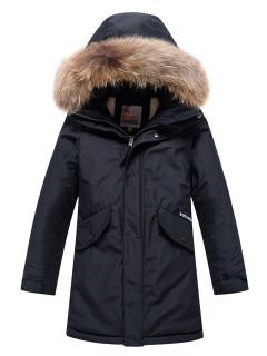 Купить оптом подростковую для мальчика зимнюю парку черного цвета в интернет магазине MTFORCE 9039Ch