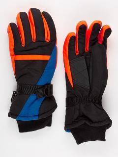 Горнолыжные перчатки подростковые для мальчика зимние синего цвета купить оптом в интернет магазине MTFORCE 904S