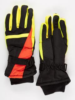 Горнолыжные перчатки подростковые для мальчика зимние оранжевого цвета купить оптом в интернет магазине MTFORCE 904O
