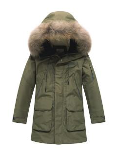 Купить оптом подростковую для мальчика зимнюю парку хаки цвета в интернет магазине MTFORCE 90431Kh