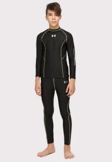 Купить оптом термобелье подростковое для мальчика черного цвета 9043Ch в интернет магазине MTFORCE.RU