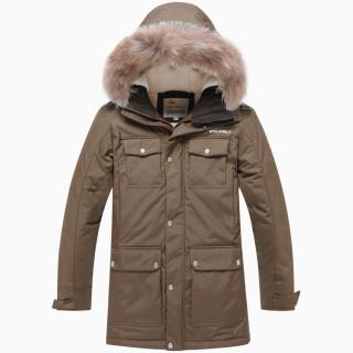 Купить оптом подростковую для мальчика зимнюю парку цвета хаки в интернет магазине MTFORCE 9045Kh