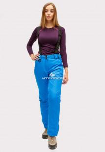 Купить оптом брюки горнолыжные женские синего цвета 905S в интернет магазине MTFORCE.RU