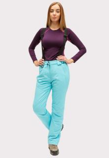 Купить оптом брюки горнолыжные женские голубого цвета 905Gl в интернет магазине MTFORCE.RU