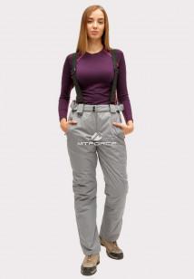 Купить оптом брюки горнолыжные женские серого цвета 905Sr в интернет магазине MTFORCE.RU