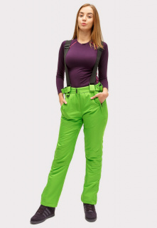 Интернет магазин MTFORCE.ru предлагает купить оптом брюки горнолыжные женские салатового цвета 905Sl по выгодной и доступной цене с доставкой по всей России и СНГ