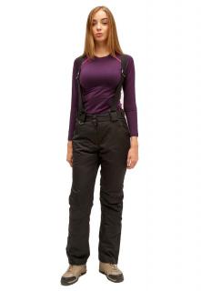 Купить оптом брюки горнолыжные женские черного цвета 905Ch в интернет магазине MTFORCE.RU