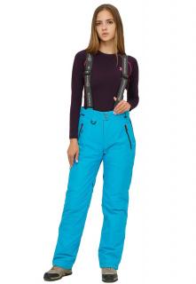 Купить оптом брюки горнолыжные женские голубого цвета 906Gl в интернет магазине MTFORCE.RU