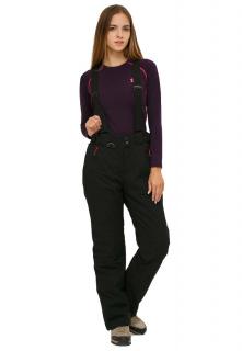 Купить оптом брюки горнолыжные женские большого размера черного цвета 1878Ch в интернет магазине MTFORCE.RU