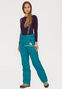 Купить оптом брюки горнолыжные женские темно-зеленого цвета 906TZ в интернет магазине MTFORCE.RU