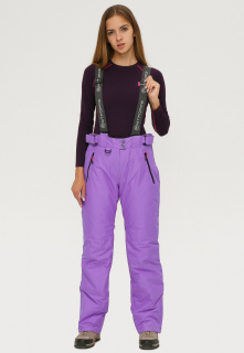 Купить оптом брюки горнолыжные женские фиолетового цвета 906F в интернет магазине MTFORCE.RU