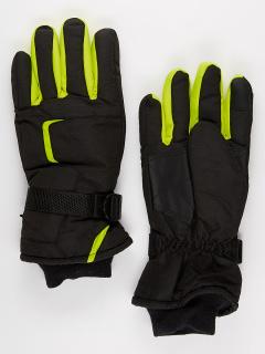 Горнолыжные перчатки мужские зимние черного цвета купить оптом в интернет магазине MTFORCE 907Ch