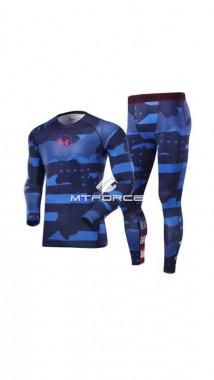 Купить оптом термобелье мужское синего цвета 9084S в интернет магазине MTFORCE.RU