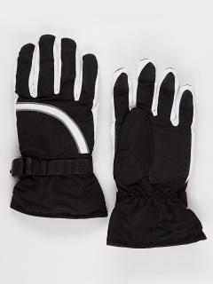 Горнолыжные перчатки подростковые для девочки зимние черного цвета купить оптом в интернет магазине MTFORCE 910Ch