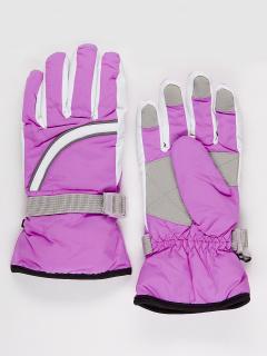 Горнолыжные перчатки подростковые для девочки зимние фиолетового цвета купить оптом в интернет магазине MTFORCE 910F