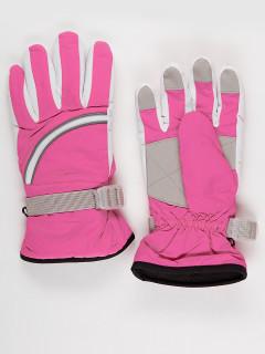 Горнолыжные перчатки подростковые для девочки зимние розового цвета купить оптом в интернет магазине MTFORCE 910-1R