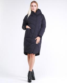 Купить оптом женскую зимнюю молодежную куртку стеганную темно-серого цвета в интернет магазине MTFORCE 9105_02TC