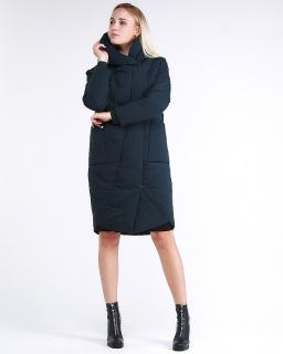 Купить оптом женскую зимнюю молодежную куртку стеганную темно-зеленного цвета в интернет магазине MTFORCE 9105_03TZ