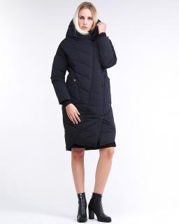 Купить оптом женскую зимнюю молодежную куртку стеганную темно-синего цвета в интернет магазине MTFORCE 9105_11TS