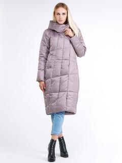 Купить оптом женскую зимнюю молодежную куртку стеганную бежевого цвета в интернет магазине MTFORCE 9163_12B