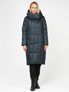 Купить оптом женскую зимнюю молодежную куртку стеганную болотного цвета в интернет магазине MTFORCE 9163_03Bt