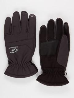 Горнолыжные перчатки мужские зимние темно-серого цвета купить оптом в интернет магазине MTFORCE 921TC