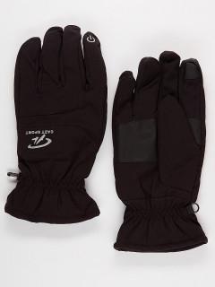 Горнолыжные перчатки мужские зимние черного цвета купить оптом в интернет магазине MTFORCE 921Ch
