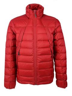 Купить оптом мужскую зимний пуховик еврозима бордового цвета в интернет магазине MTFORCE 92117Bo