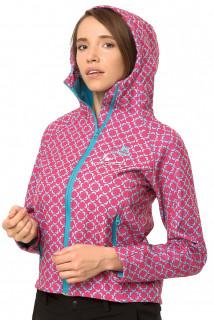 Купить оптом ветровку- виндстоппер женскую розового цвета 925R в интернет магазине MTFORCE.RU