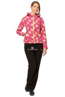 Купить оптом костюм виндстопер женский желтого цвета 0925J в интернет магазине MTFORCE.RU