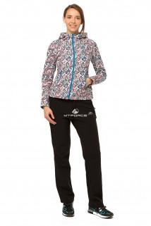 Купить оптом костюм виндстопер женский голубого цвета 0925Gl в интернет магазине MTFORCE.RU