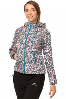 Купить оптом ветровку- виндстоппер женскую голубого цвета 925Gl в интернет магазине MTFORCE.RU
