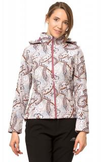 Купить оптом куртка ветровка батал женская бежевого цвета 922B в интернет магазине MTFORCE.RU