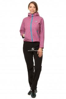 Купить оптом костюм виндстопер женский розового цвета 0925R в интернет магазине MTFORCE.RU