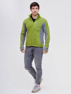 Купить оптом толстовку мужскую утепленную зеленого цвета 92600Z в интернет магазине MTFORCE.RU