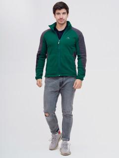 Купить оптом толстовку мужскую утепленную темно-зеленого цвета 92602TZ в интернет магазине MTFORCE.RU