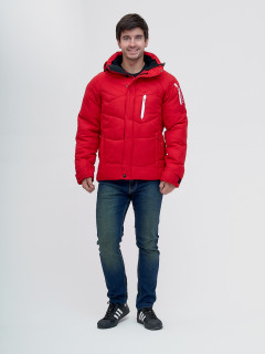 Купить оптом мужскую зимний куртку красного цвета в интернет магазине MTFORCE 93139Kr