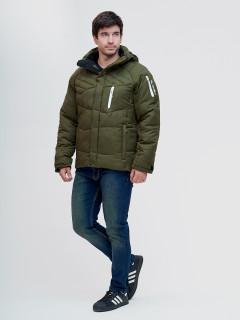 Купить оптом мужскую зимний куртку цвета хаки в интернет магазине MTFORCE 93139Kh
